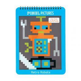Kolorowanka z pixelami Mudpuppy - roboty