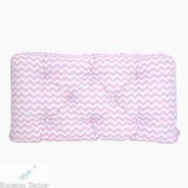 Poduszka-wezgłowie duża - zygzaki - różowe