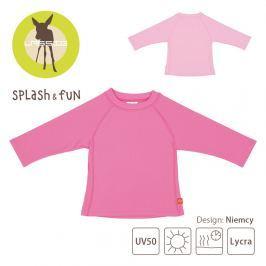 Koszulka z długim rękawem Splash&Fun (UV 50+)  - light pink 6-12m Pozostałe