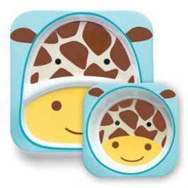Zestaw naczyń Skip Hop ZOO - talerz i miseczka - żyrafa