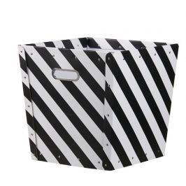 Pudełko-kosz Kids Concept - czarne paski
