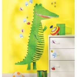 Naklejki naścienne Wallies - miarka wzrostu krokodyl