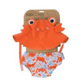 Zestaw plażowy: pieluszka i kapelusz (UPF 50+) - krab L