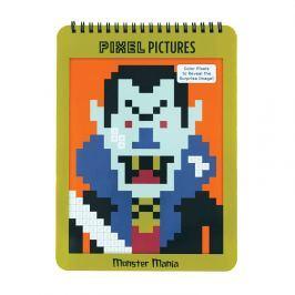 Kolorowanka z pixelami Mudpuppy - potwory