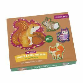 Puzzle sensoryczne Mudpuppy - leśne zwierzęta