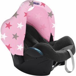 Osłonka-daszek Dooky Hoody do fotelika - pink+pink stars