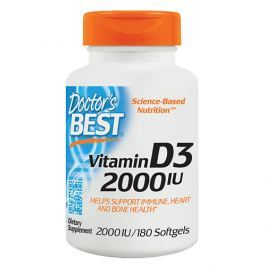 DOCTOR'S BEST Vitamin D3 2000 IU - 180softgels