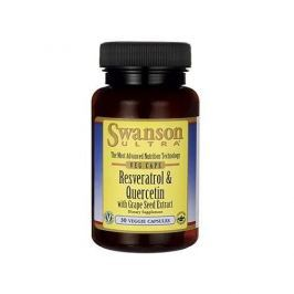 Swanson Resveratrol and Quercetin with Grape Seed Extreact 30 vcaps