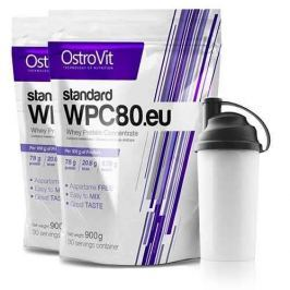 OSTROVIT WPC 80.eu Standard - 900g x 2 + Shaker GRATIS - Chocolate Dream