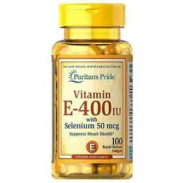 Puritan's Pride Vitamin E-400IU with Selenium 50mcg 100 softgels.