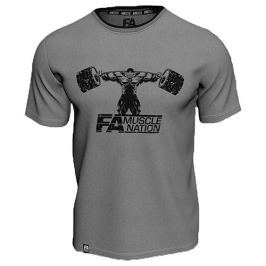 FA Wear T Shirt Double Neck Muscle Nation Grey - M