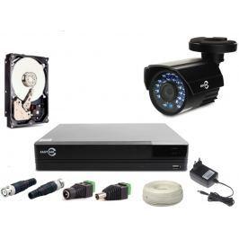 ZESTAW MONITORINGU EASYCAM AHD CVI TVI ANALOG 1 KAMERA HD 720P + REJESTRATOR + HDD 1TB - Szybka dostawa lub możliwość odbioru w 39 miastach