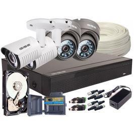 Zestaw 4w1 4x Kamera FULLHD/, Rejestrator 4ch + HDD 2TB - Szybka dostawa lub możliwość odbioru w 39 miastach