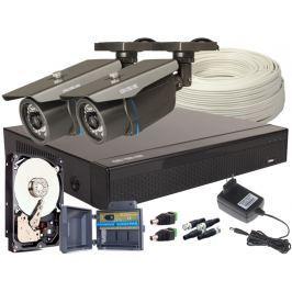 Zestaw 4w1, 2x Kamera FULL HD/IR30, Rejestrator 4ch, HDD 1TB - Szybka dostawa lub możliwość odbioru w 39 miastach