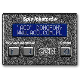 ACO CDN-230E GR Elektroniczny spis lokatorów grafit  - Szybka dostawa lub możliwość odbioru w 39 miastach