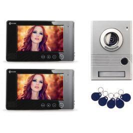 Wideodomofon 7 cali, czytnik RFID, dwa monitory PROCOMM VP-716A/B - Szybka dostawa lub możliwość odbioru w 39 miastach