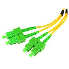 PATCHCORD ŚWIATŁOWODOWY SM 2M DUPLEX 9/125, SC/APC-SC/APC  3MM - Szybka dostawa lub możliwość odbioru w 39 miastach